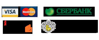 Принимаем оплату онлайн через Visa, MasterCard и Яндекс.Деньги